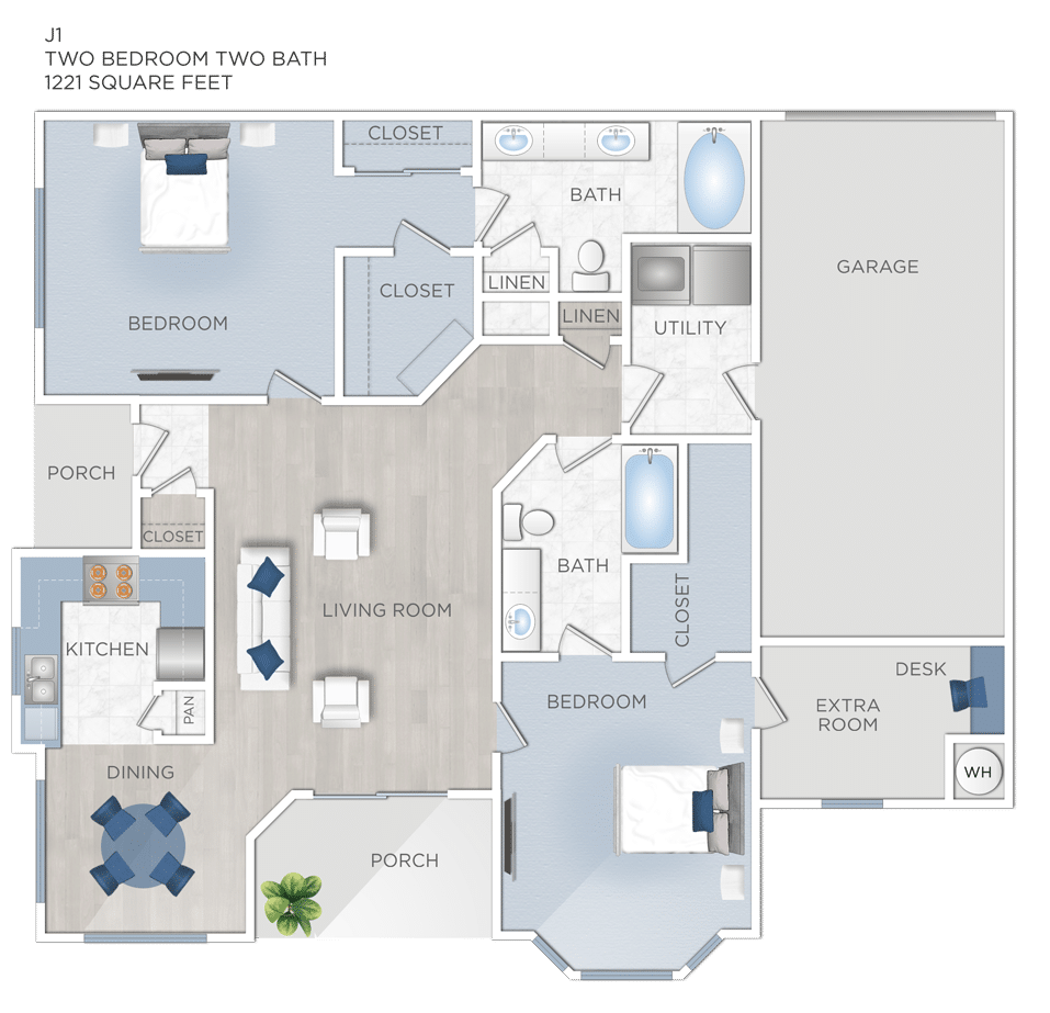 Two Bedroom Apartments in Jersey Village, TX